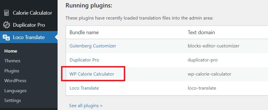 Loco Translate - Plugins list