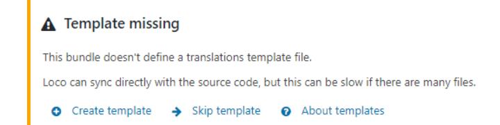 Loco Translate - Template Missing error